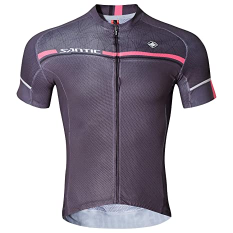 500c8c9fe Image Unavailable. SANTIC Men s Cycling Jersey Bike Bicycle Short Sleeve Bike  Shirt Breathable Jacket Quick Dry