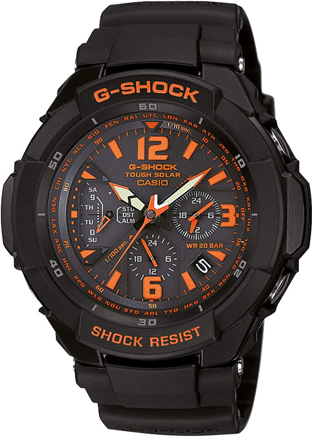 G-Shock Tough Solar Gravity Defier Black Dial Men s watch G-1200B-1A