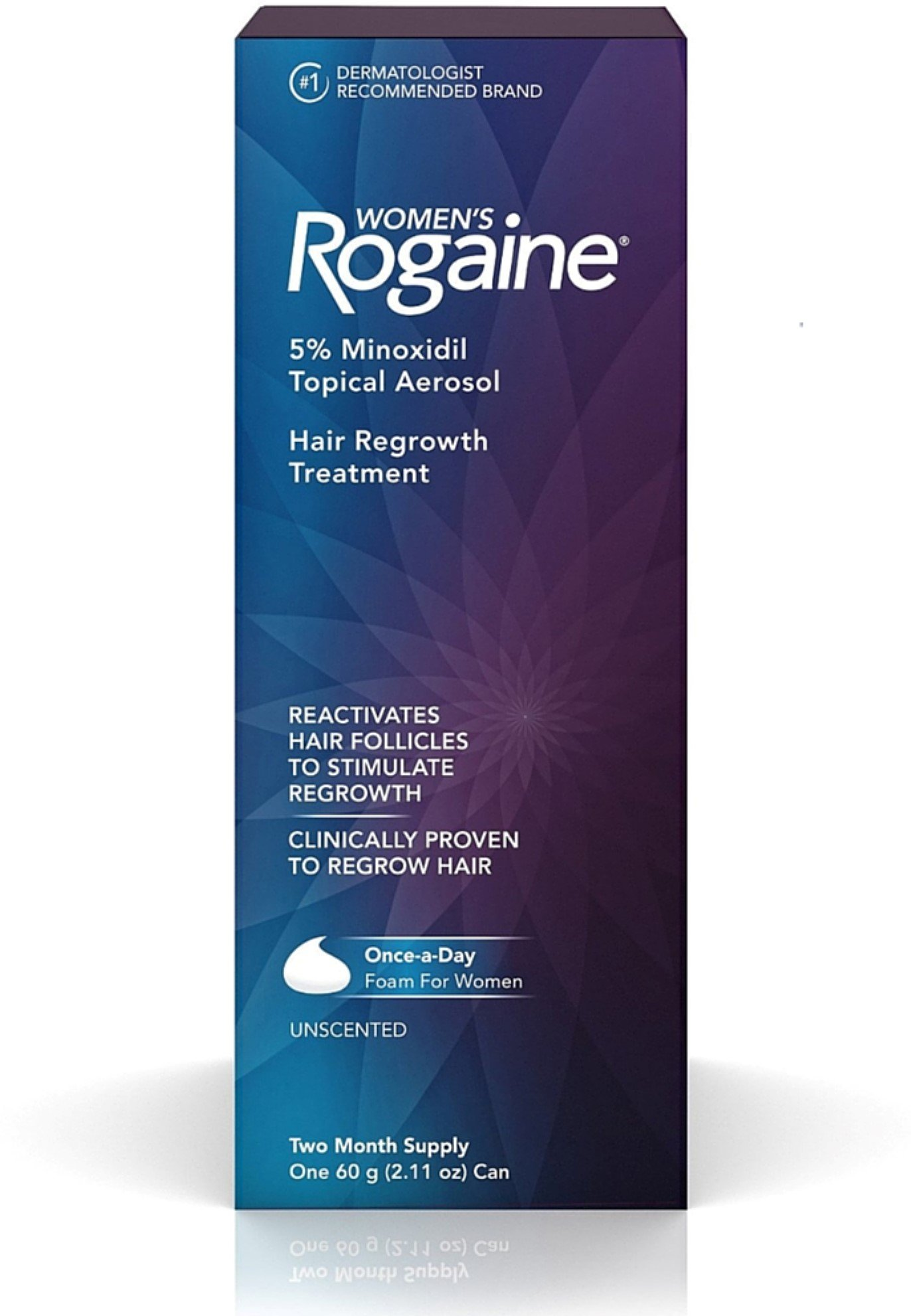 Rogaine Women's Hair Regrowth Treatment, 2 Month Supply 2.11 oz (Pack of 5)