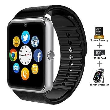 Reloj inteligente, AXCEED GT08 con bluetooth y pantalla táctil. Reloj deportivo de pulsera con ...