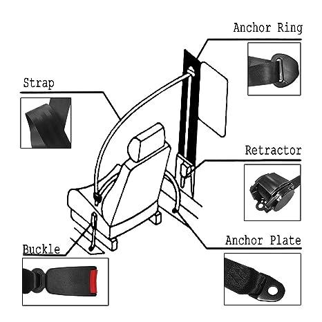 Amazon Com Moheen 3 Point Adjustable Auto Seat Safety Belt Harness