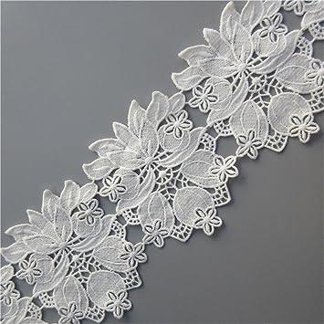 2 Yards Brautkleid Bänder Spitze Borten Lace Kleidung Hochzeit Nähen DIY Verzier