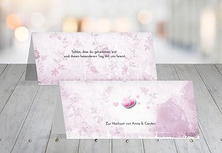 Segnaposto Matrimonio Romantico.Matrimonio Segnaposto Din Amore Romantico Pinkdunkellila 5