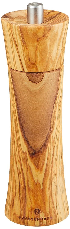 Zassenhaus Frankfurt - Salt Mill - Beech Wood with Ceramic Grinding Mechanism - Olivewood - 14cm 22414