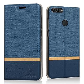 RIFFUE Funda Huawei P Smart, Carcasa Delgada Libro de Cuero con Tapa Cartera de Ranura y Billetera Elegante Case Cover para Huawei P Smart 5.65