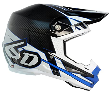 6D Helmets ATR-1 Carbon - Electric Blue White XL