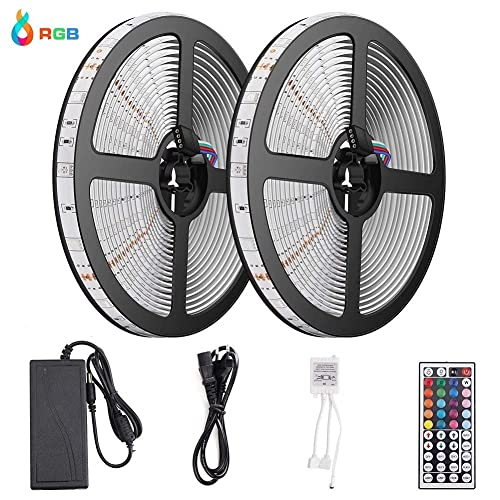 10M Tiras LED RGB 3528 600 Leds IP65 Impermeable Multicolor Tira LED de Luces LED Kit Completo
