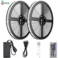 10M Tiras LED RGB 3528 600 Leds, IP65 Impermeable Multicolor Tira LED de Luces LED Kit Completo