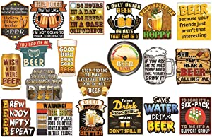 Beer Stickers. Cool Stickers for Beer Cooler. Funny Stickers for Adults. Prizes for Drinking Games for Adult Party - 100% Waterproof Vinyl Stickers