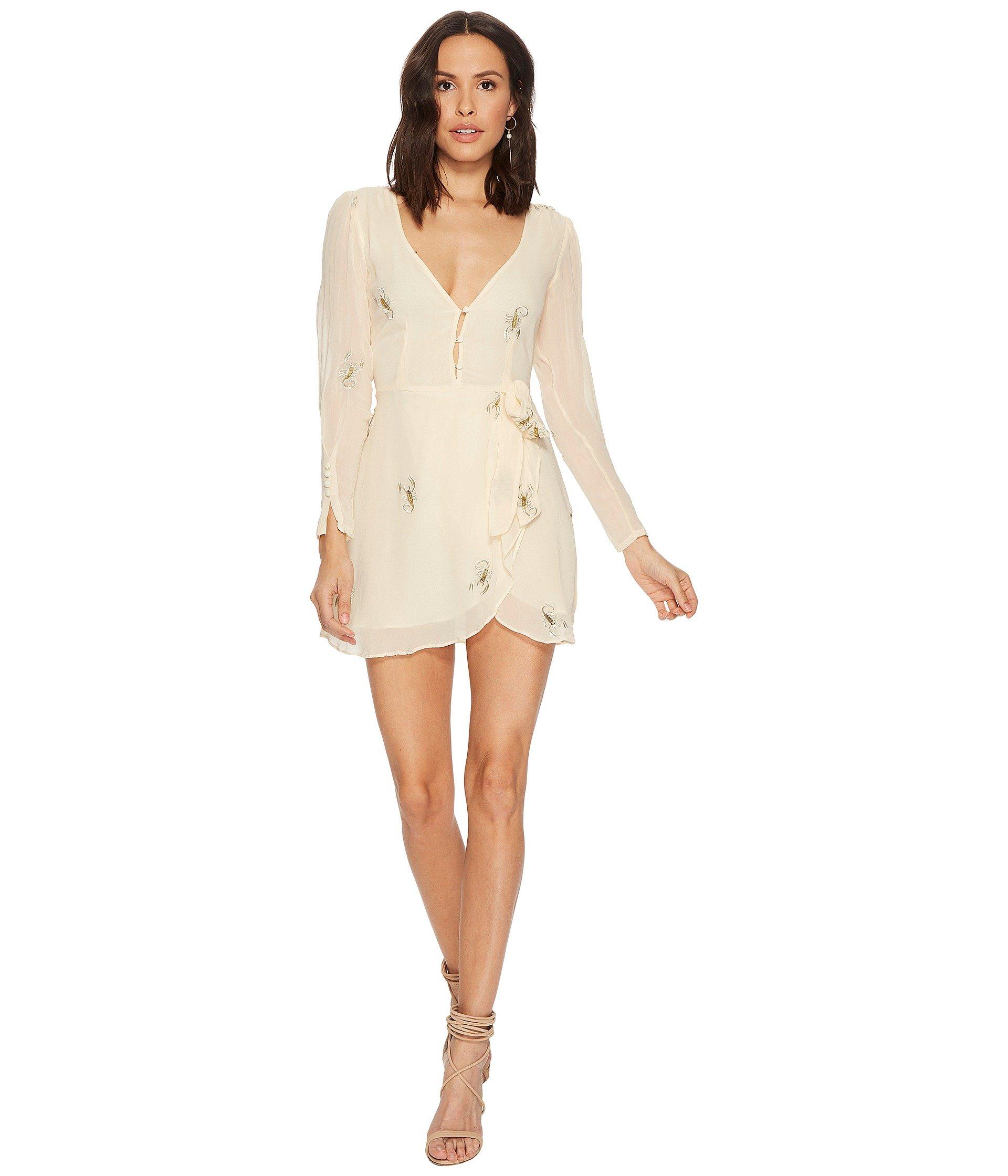 For Love & Lemons Women's Scorpion Wrap Mini Dress, Scoprion, XS