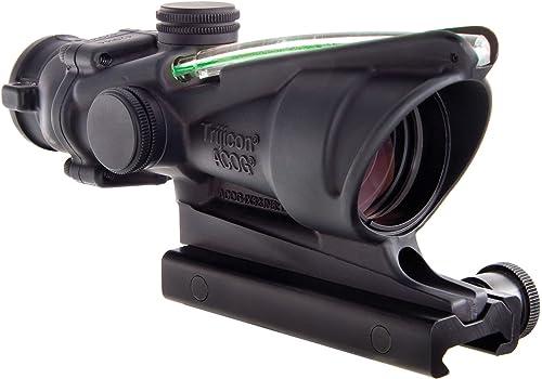 Trijicon ACOG 4 X 32 Scope Dual Illuminated Horseshoe Dot .223 Ballistic Reticle, Green
