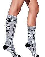 Victoria's Secret Pink Knee High Socks GREY MARL One Size