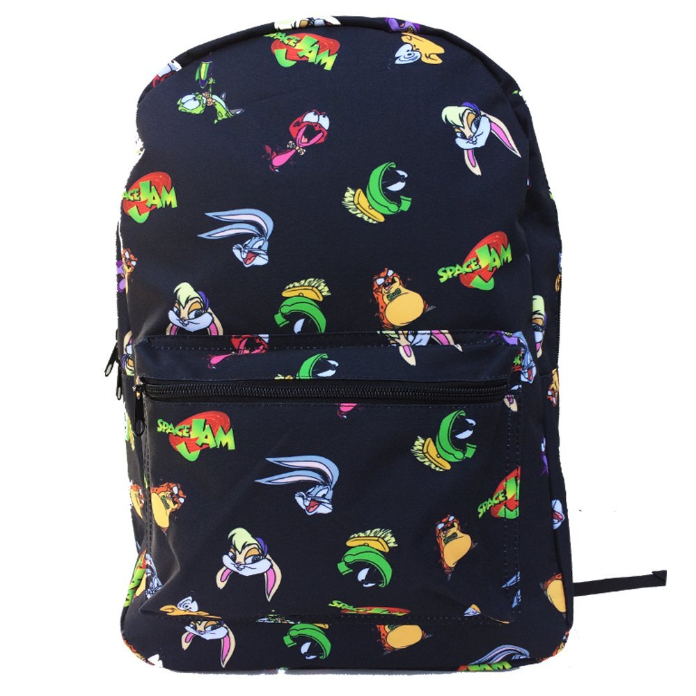 Space Jam Backpack Tune Squad 17'' Large Luggage Strap Basketball Backpack