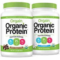 Orgain Bundle - Chocolate and Vanilla Bean Protein Powder - (20 Servings Each) Vegan, Low Net Carbs, Made Without Dairy…