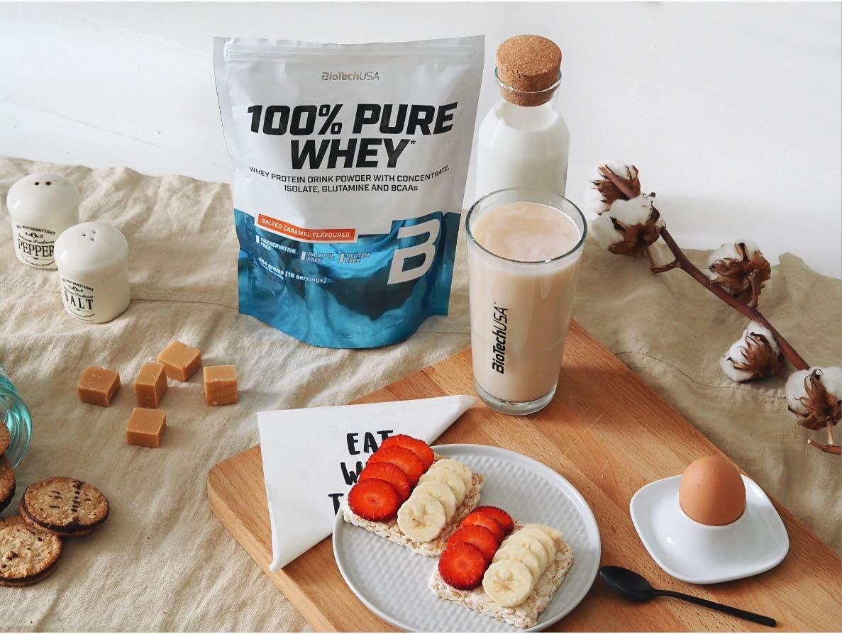 BioTechUSA 100% Pure Whey Complejo de proteína de suero, con aminoácidos añadidos y edulcorantes, sin conservantes, 1 kg, Cookies & Cream