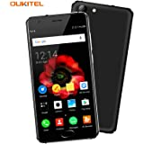 OUKITEL K4000 Plus - 4G Smartphone Libero Batteria 4100mAh 5MP 13MP Telecamere, Quad Core MT6737 1.3GHz, 5,0 pollici 2.5D Display, 2G RAM e 16 ROM, Impronta Digitali Android 6.0 Dual SIM GPS Durevole Telefonino - Nero