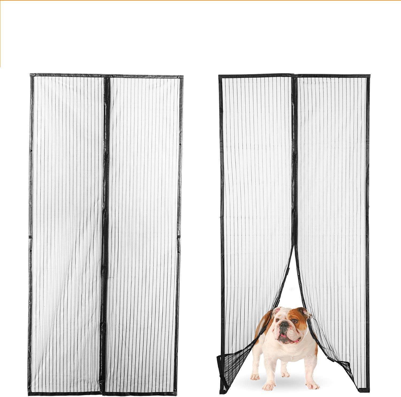 Lexi Home Upgraded Magnetic Screen Door - Door Screen with Strong Long Magnets, Hands-Free Bug Screen, Great for Patio - RV and Pet Screen Door