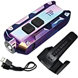 Nitecore TIP SS Stainless Steel Edition 360 Lumen USB Rechargeable Keychain Flashlight & LumenTac USB Charging Cable (Tropical)