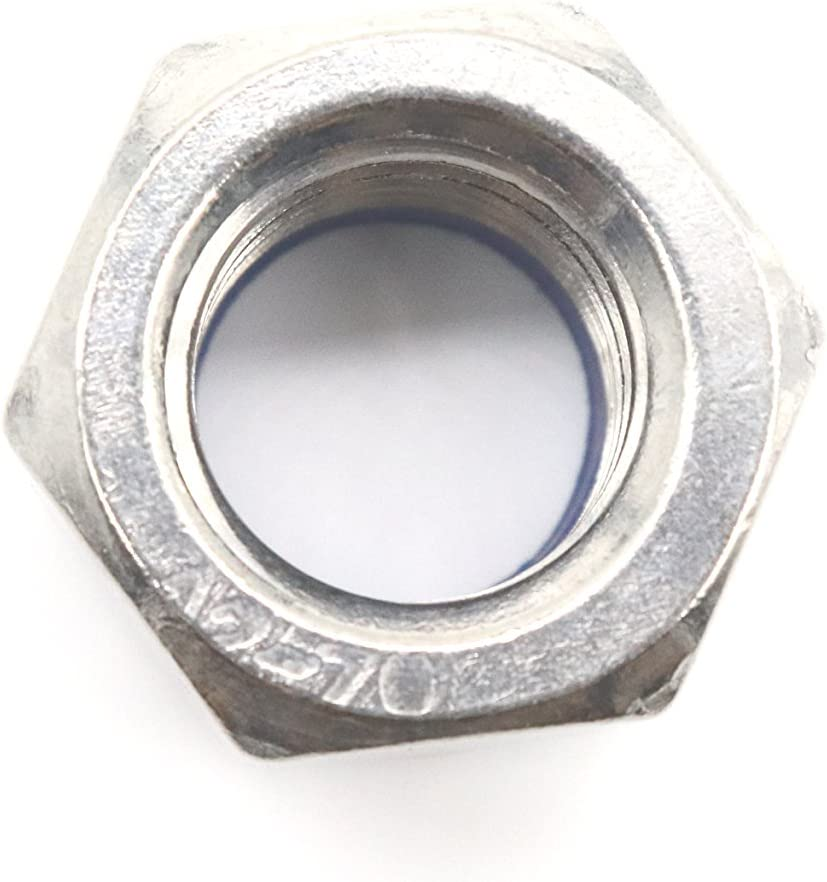 binifiMux 100pcs 304 Stainless Steel M6-1.0 Nylock Nylon Inserted Self Locking Nut A2-70 Silver