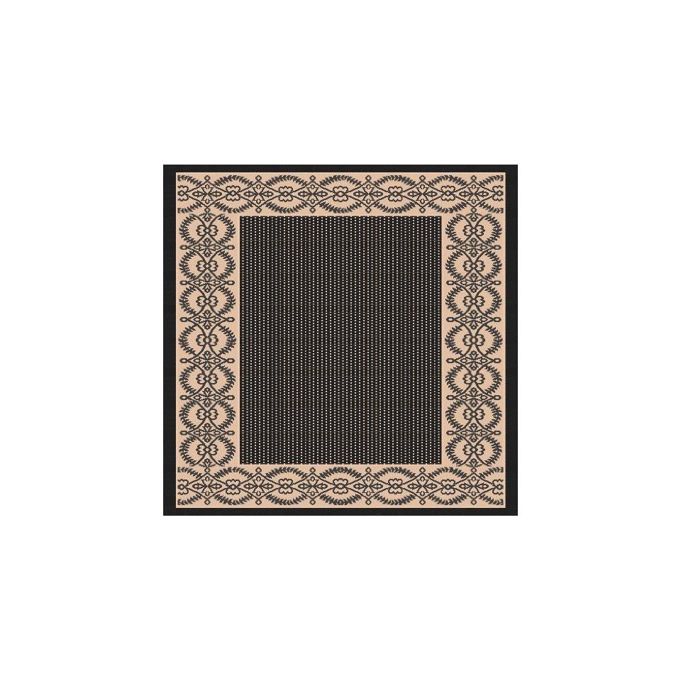 3x5 Indoor Outdoor Area Rug, Black, Beige 28x 511 Patio Pool Rug
