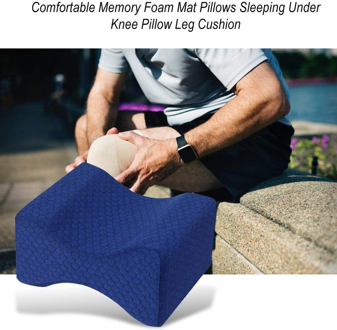 Formulaone Cómodas Almohadas de colchoneta de Espuma con Memoria Almohada para Dormir Debajo de la Rodilla Almohada Ortopédica Postura de Apoyo Cojín de Pierna-Azul Marino Cian