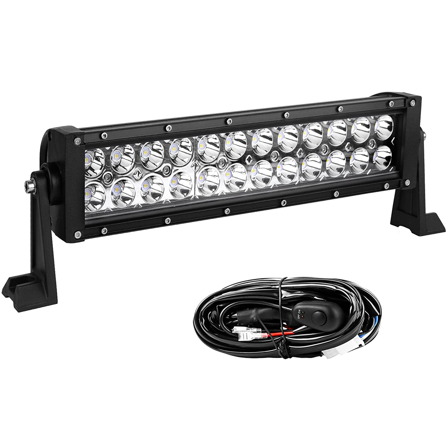 Outlet Led Light Pod Yitamotor 12inch 72w Bar Wiring Lightbar Harness Spot Work