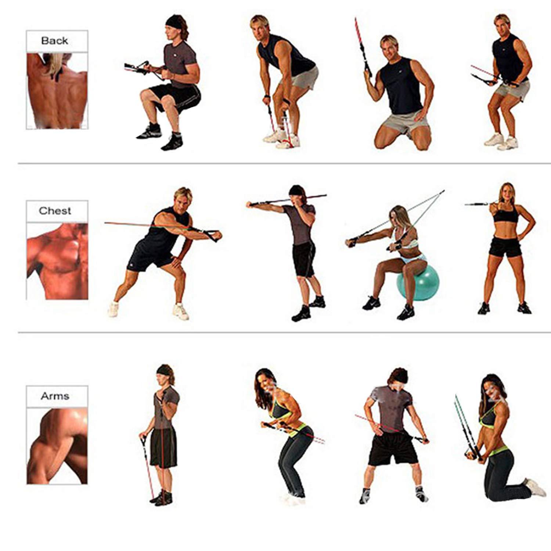 YHmall 2 Piezas de Bandas Elásticas de Fitness, Cintas Deportivas Ejercicios Resistencia con Asas Ideales para Entrenamiento de Musculación Fisioterapia, ...