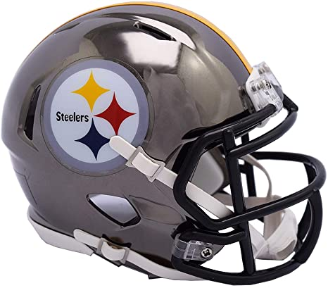 low priced 004fe 37cec Amazon.com : Sports Memorabilia Riddell Pittsburgh Steelers ...