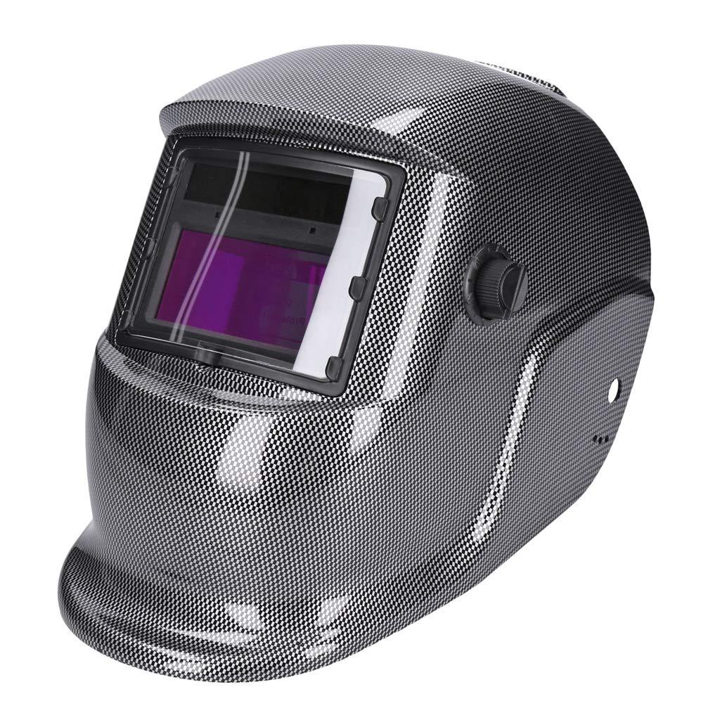 GEORGES Automatik Solar Schwei/ßhelm mit UV-Schutz und gro/ßem Sichtfenster f/ür alle Schwei/ßarten 1645-A