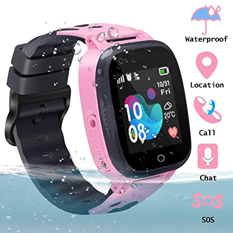 Kids Smart Watch Waterproof GPS Watch Smartwatch Phone for Kids with Touch Screen SOS Game Remote Call Sport Smart Watch Camera Two-Way Call Digital ...