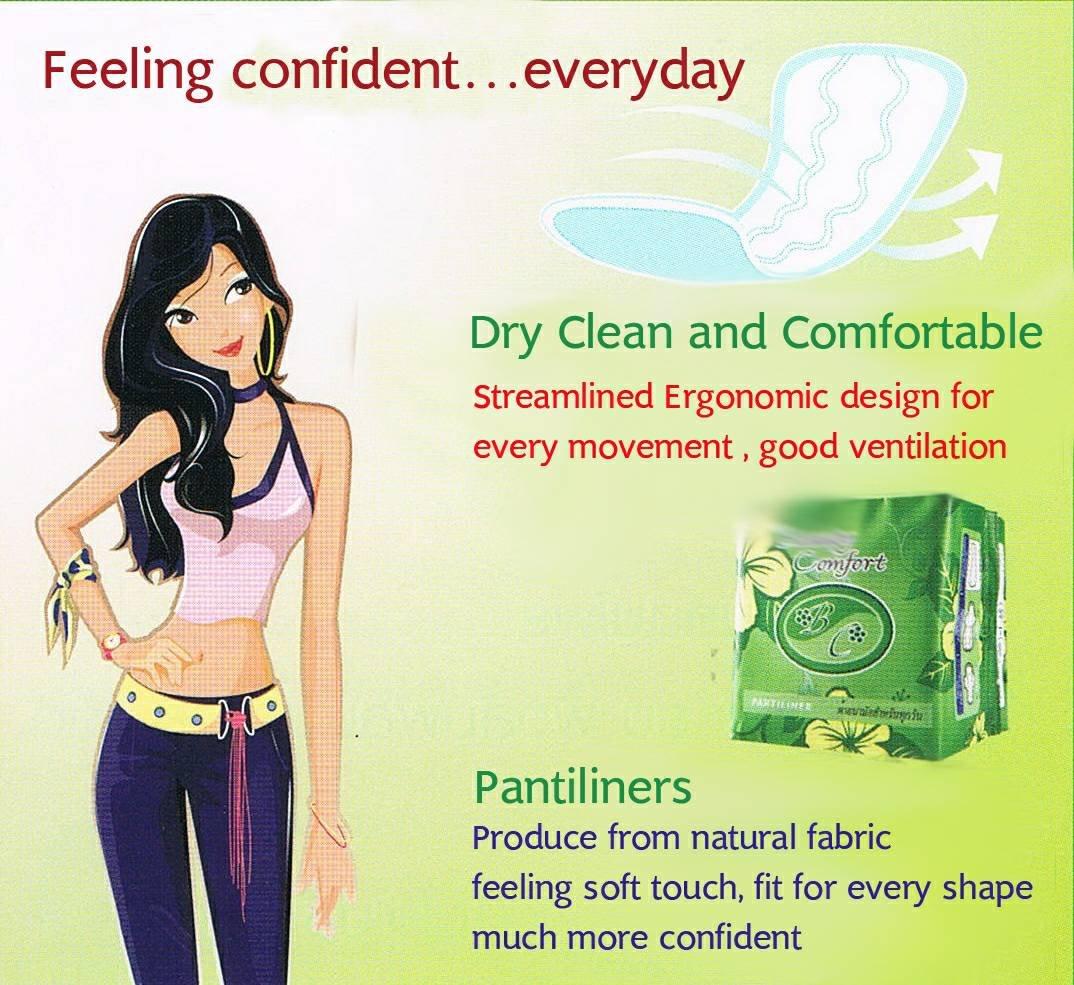 Happyland2u Bio Sanitary Pads Beauty Comfort - Bio Sanitary Pads for Daily Used Pantiliner 1 Bag/10 Pack. Long 16 Cm. by Happyland2u (Image #3)