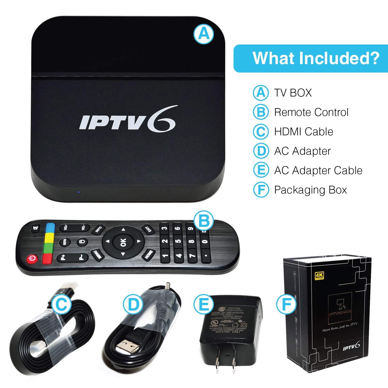 IPTVKINGS IPTV6 Edition 4K Ultra HD HTV6 possui mais de 200 canais de TV, muitos deles em UHD e Bluetooth, Android 5.1 e muitos canais de entretenimento, infantis, esportivos, filmes e séries by IPTVKINGS