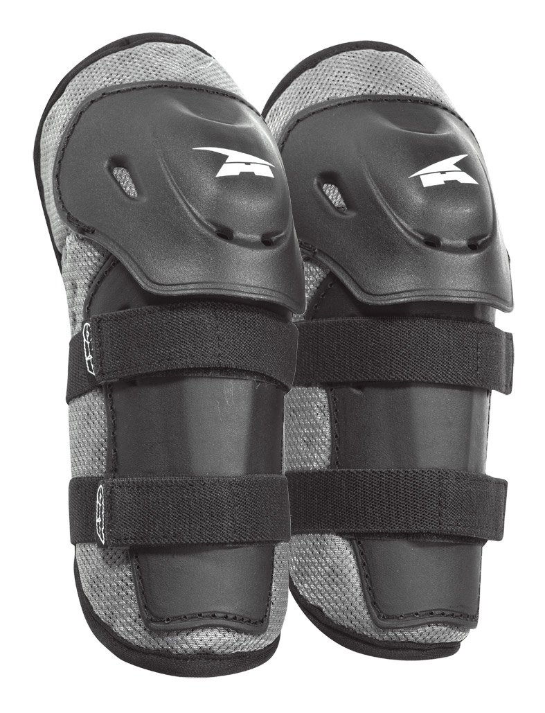 AXO PeeWee Knee Guard (Black/Gray, One size)