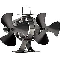 Zennox Doble ventilador de estufa de 6 cuchillas