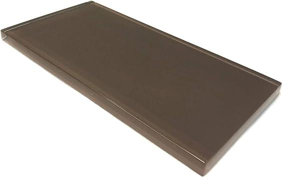Giorbello Glass Subway Backsplash Tile 3 X 6 Classic Brown Sample Tile 1 Piece Amazon Com
