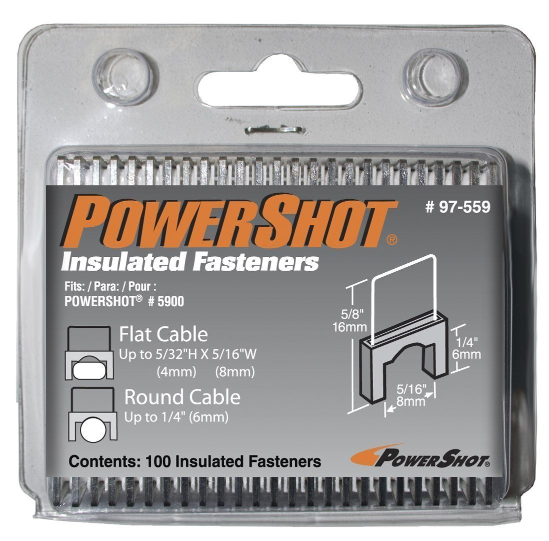 Arrow Fastener 97-559 PowerShot Insulated Fasteners 100 Count
