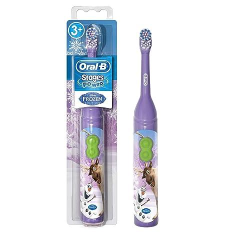 Braun Oral-B Stages Power Kids Batería de Cepillo de Dientes Niños 3 + Años Disney Frozen la Reina de Hielo + MAGIC temporizador, Modelos Aleatorios