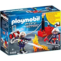 Playmobil Firefighters with Water Pump Playset