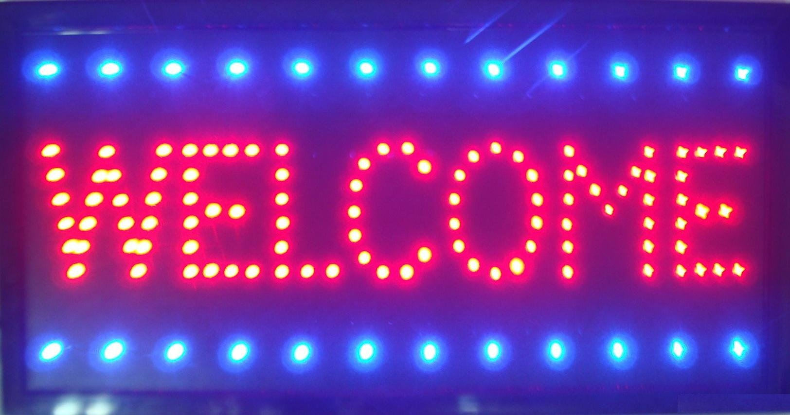 UbiGear 10 19 Inch Animated Motion LED Business Welcome Sign +On/off Switch Bright Open Light Neon