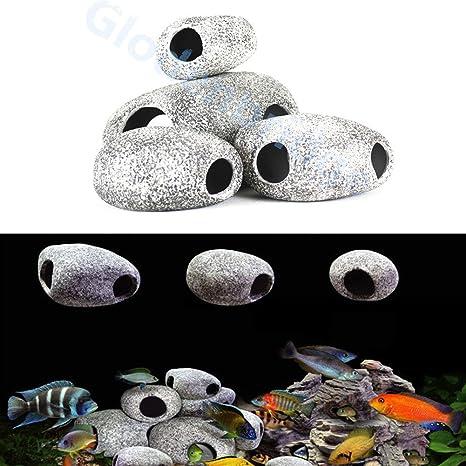 Glodenbridge - Rocas decorativas para acuario, piedra artificial, decoración de acuario, decoración de