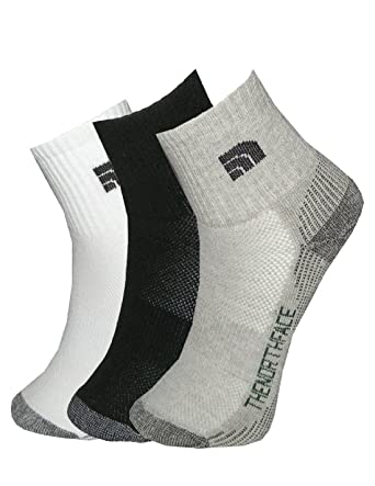 9fe5938b8 (Pack of 3) Mens The North Face Athletic Running / Hiking Crew Socks