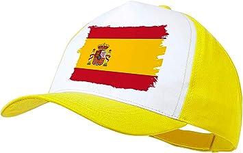 MERCHANDMANIA Gorra Amarilla Bandera ESPAÑA Pais Unido Color Cap: Amazon.es: Deportes y aire libre