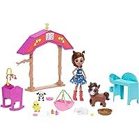 Enchantimals GJX23 Barnyard Nursery PLAYSET with HAYDIE Horse Doll & Trotter, Multi