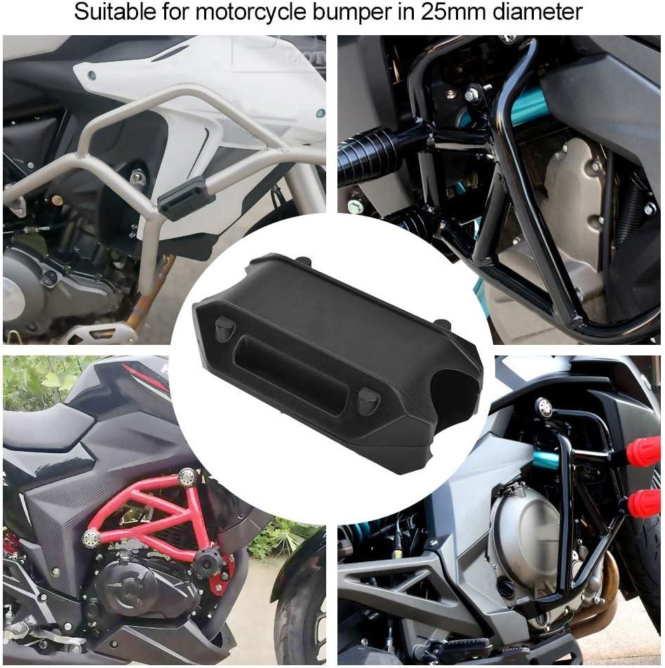 Motocicleta Motor Guardia Parachoques Protecci/ón Bloque Decorativo 25mm Crash Bar Negro