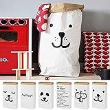 Cute Cartoon Kraft Paper Storage linen Bag Kids