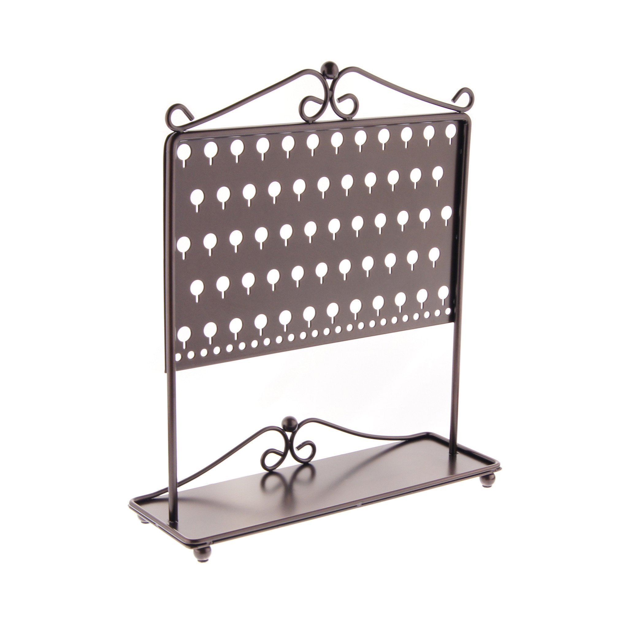 Earring Holder Organizer Stand Jewelry Organizer Hanging Earring Tree Storage Display Rack, Ginger Rubbed Bronze by Angelynn's Jewelry Organizers (Image #3)