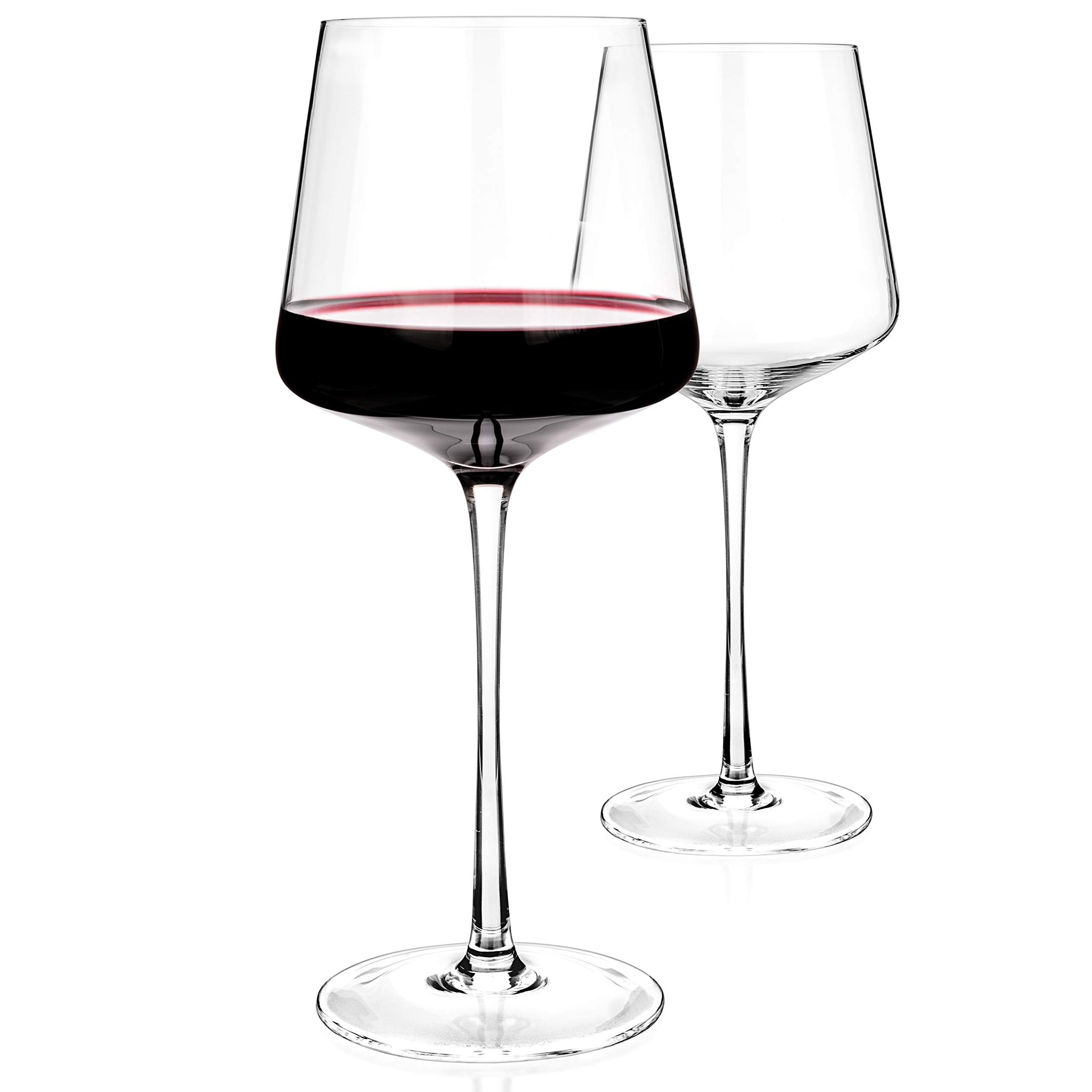 Luxbe - Crystal Wine Glasses 20.5-ounce, Set of 4 - Red or White Wine Large Glasses - 100% Lead Free Glass - Pinot Noir - Burgundy - Bordeaux - 600ml by Luxbe (Image #6)