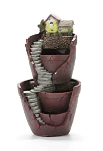 Vencer Creative Plants Pot - Flowerpot Combination Resin Succulent Plant Pot (City of Sky),VF-008