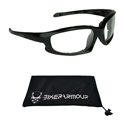 77f1be7f725 Image Unavailable. Image not available for. Color  Bikershades Motorcycle  Riding Glasses Foam Padded Wind Dust and Impact Resistant