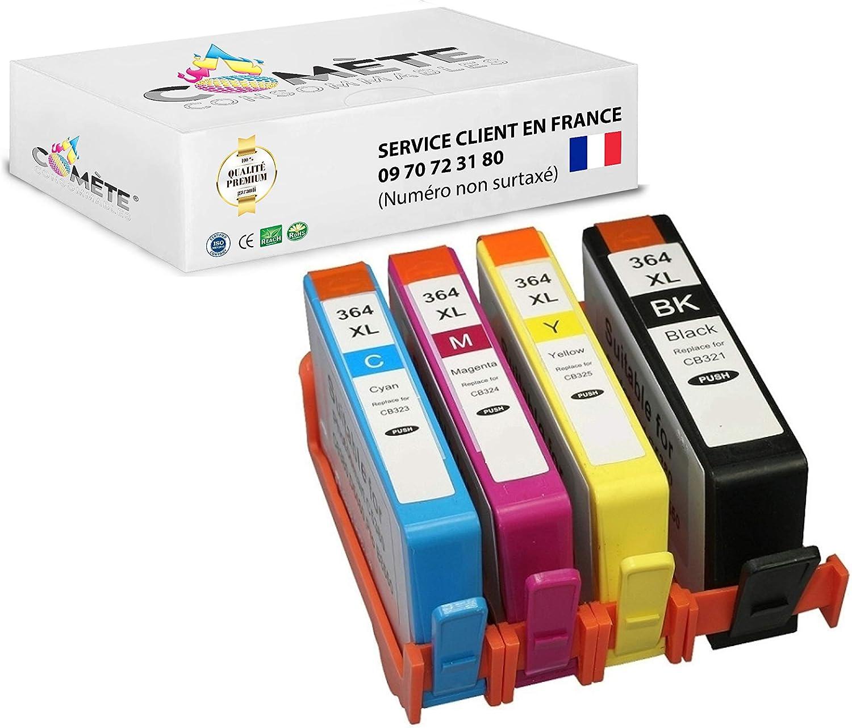 4 cartuchos de tinta Premium compatibles con HP 364XL 364 XL ...